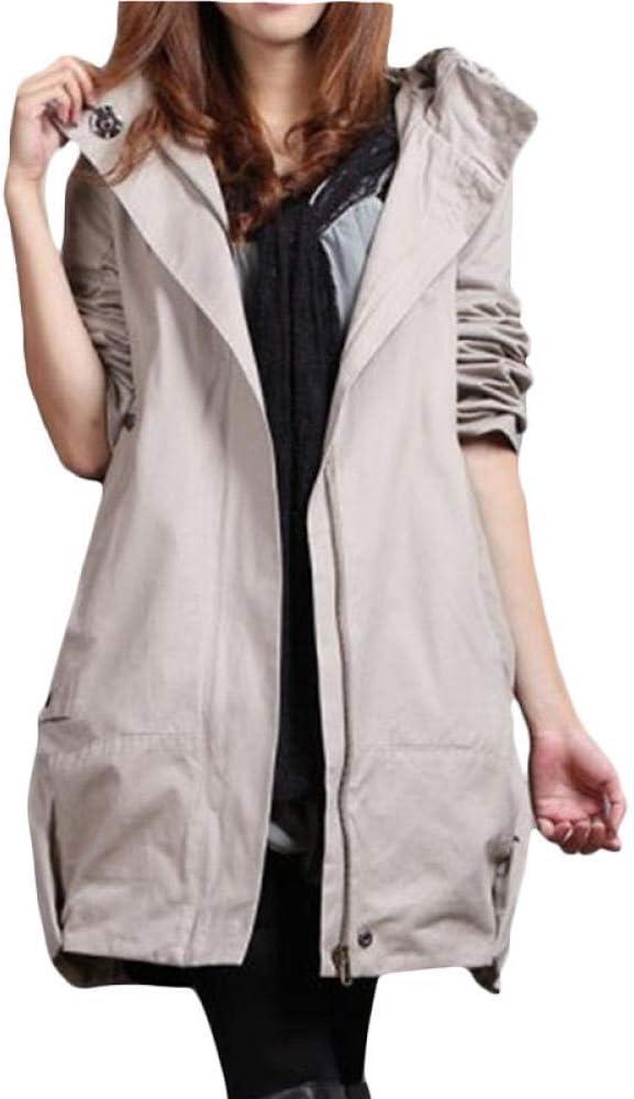 LYNLYN Jackets Windbreaker Coat Women Long free Max 72% OFF Plus Loose Win Cotton