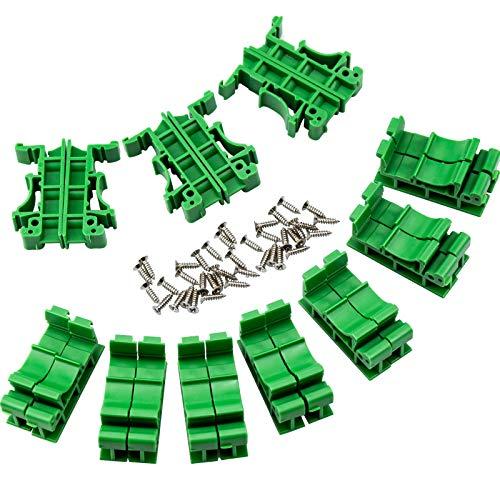WEKON 10 Set PCB DIN C45 Schiene Hutschienen Adapter Leiterplatte Montage Halterung Halter für DIN C45-Schienenmontage, zum Sichern und Halten von Leiterplatten- oder elektronischen Schaltgeräten