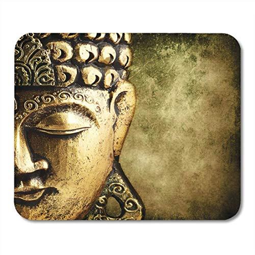 Yanteng Mouse Pads Buda Buddha Gold Face Buddhist Peace Freiheit Olhos (Buddhas Mouse Pad)