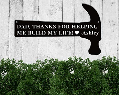 Custom Dad Metal Sign