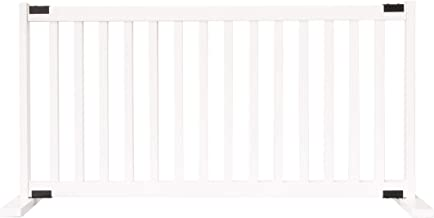 """product image for Dynamic Accents Amish Craftsman Kensington Series 20"""" Tall Free Standing Solid Wood Pet Gates are Handcrafted Large/White"""