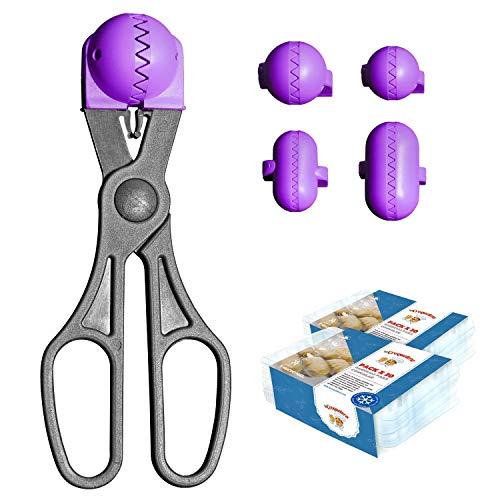 La Croquetera Pack- Utensilio Multiusos Color Morado - 4 moldes Intercambiables para masas + Pack 40 Bandejas conservación - 100% español : Patentado y Fabricado en España
