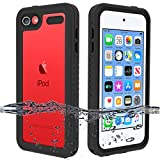 BESINPO Waterproof Case Compatible with iPod Touch 7 Case, iPod Touch 6, iPod Touch 5 Case,360 Full-Body Built-in Screen Protector Dustproof Shockproof Anti-Scratch Case for iPod Touch 7/6/5 - Black