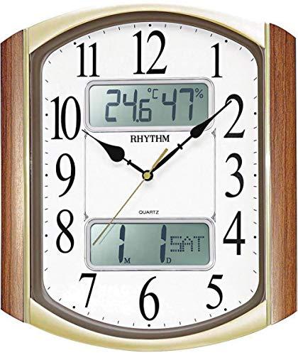 Wandalarm, Kalender, Thermometer und Hygrometer. Kontinuierliche Bewegung Nadel. Durchmesser 50 cm.