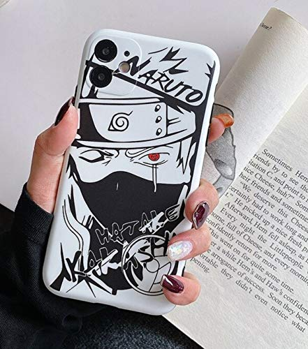 FUTURECASE Carcasa suave para iPhone 6, 6S, 7, 8 Plus, XR, XS 11, 12 Pro Max Mini SE 2020, diseño de anime Naruto Sasuke Pain Itachi Kakashi Gaara