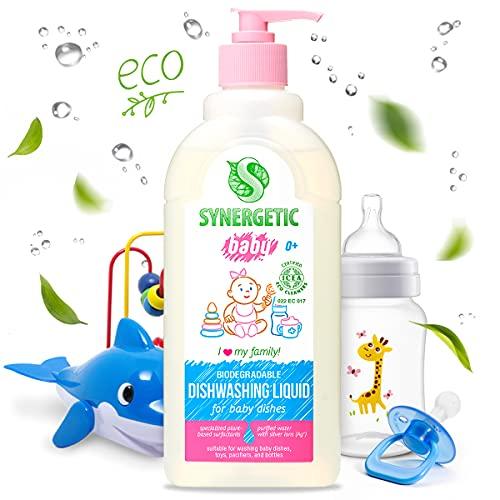 Limpiador de platos biodegradable para niños, Synergetic (0,5 l)