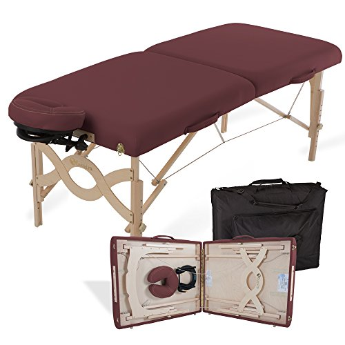 "EARTHLITE Portable Massage Table Package AVALON – Reiki Endplate, Premium Flex-Rest Face Cradle & Strata Cushion, Carry Case (30""x73"")"