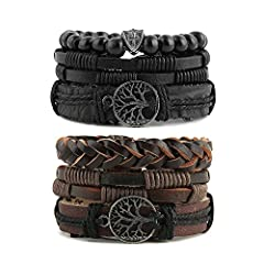 Designed for personal wearing or to be the christmas, halloween, birthday, anniversary gifts for father, mother, friends, lovers, couples, motorcyclists bikers, tattoo fans... or just yourself Unisex multilayer fashion bracelet,Wonderful gift for you...