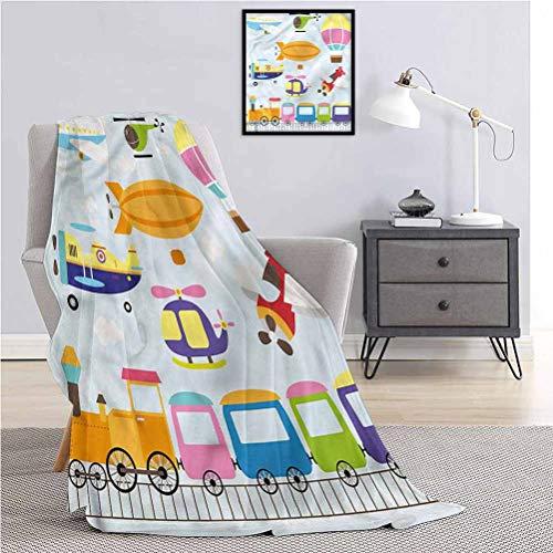 Toopeek - Manta para niños, diseño de helicóptero, ligera, suave, cálida y cómoda, 91 x 60 pulgadas