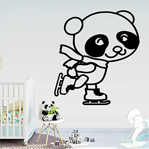 Yaonuli Muursticker Panda Sport creatieve kinderkamer vinyl decoratie voor slaapkamer afneembaar muursticker