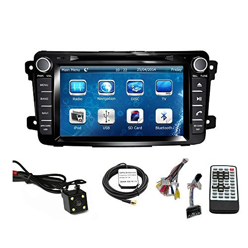 Car GPS Navigation System for MAZDA CX-9 2007 2008 2009 2010 2011 2012 2013 2014 2015 Double Din Car Stereo DVD Player 7 Inch Touch Screen TFT LCD Monitor In-dash DVD Video Receiver with Built-In Bluetooth TV Radio, Support Factory Steering Wheel Control, RDS SD/USB iPod AV BT AUX IN+ Free Backup Camera + Free GPS Map of USA