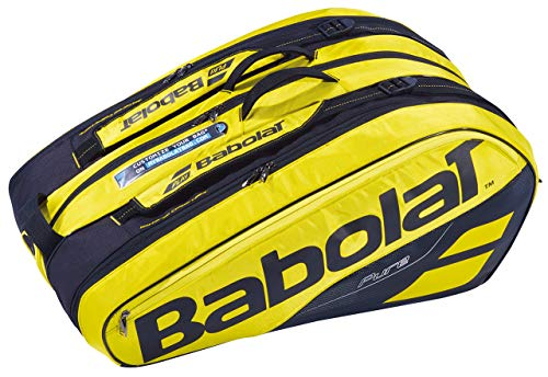 Babolat RH X 12 Pure Aero Bolsa, Adultos Unisex, Jaune Noir (Multicolor), Talla Única