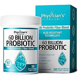 Probiotics 60 Billion CFU - Dr. Approved Probiotics for Women, Probiotics for Men and Adults, Natural, Shelf Stable Probiotic Supplement with Organic Prebiotic, Acidophilus Probiotic, 30 Capsules by Jb7 Llc