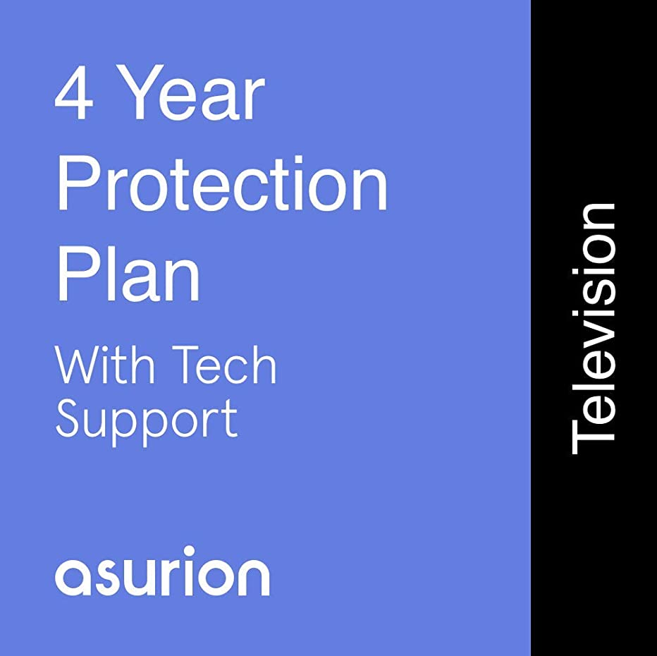 ASURION 4 Year Television Protection Plan with Tech Support $200-249.99