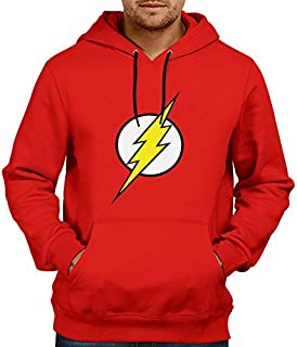 Inferno Flash-Hoodie | Mens Hoodies Hoodies for Mens | Flash Winter Hoodie Sweatshirt Red Color