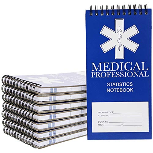 Medical Professional Spiral Notepads (4 x 8 Inches, 12-Pack)
