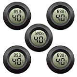 5-Pack EEEkit Hygrometer Thermometer Digital LCD Monitor Indoor Outdoor Humidity Meter Gauge