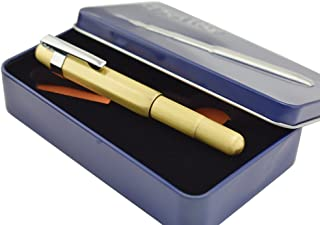 Delike Brass Fountain Pen Extra Fine 0.38 mm Pocket Pen for Business Signature in Metal Gift Box