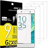 NEW'C 3 Unidades, Protector de Pantalla para Sony Xperia XA, Antiarañazos, Antihuellas, Sin Burbujas, Dureza 9H, 0.33 mm Ultra Transparente, Vidrio Templado Ultra Resistente