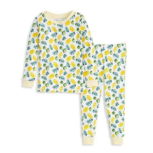 Burt's Bees - Conjunto de Pijamas y pantalón para bebé (2 Piezas, 100% algodón orgánico), Lemon Lime, 3 Años