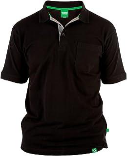 D555 Duke Kingsize Big Mens Grant Pique Polo Shirt Black 2XL-6XL RRP £18.00