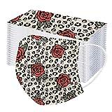 YpingLonk 10/20/100PCS Unisex Adulto Protector Estampado de Leopardo Plus Bufanda de Flores-Moda Universal Lindo 3 Capas Elástico Orejeras Mantón Suave para Mujeres Hombres-21130-38
