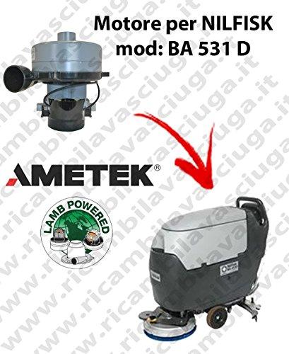 Motor de aspiración Lamb Ametek para mopa Nilfisk BA 531 D