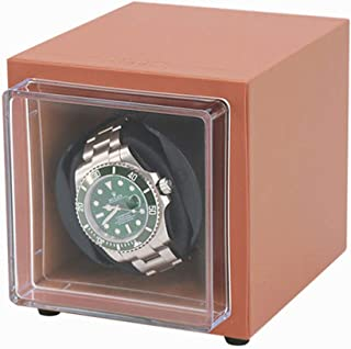Automatic Single Watch Winder,Anti-magnetic design,Silent design low energy consumption,Pu leather Display Box Case [100% ...