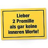 DankeDir! 2 Promille, Kunststoff Schild mit Spruch - lustiges Geschenk für ihn, Geschenkidee...
