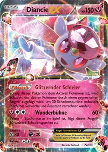 Diancie EX 72/124 Pokémon XY Schicksalsschmiede Sammelkarte - Deutsch - Cardicuno