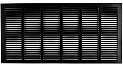 "30""w X 14""h Steel Return Air Grilles - Sidewall and Ceiling - HVAC Duct Cover - [Outer Dimensions: 31.75""w X 15.75""h]"