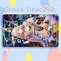 GraceLeacock カードゲームプレイマット 遊戯王 プレイマット ゼノブレイド 2 ニア アニメグッズ TCG万能 収納ケース付き アニメ 萌え カード枠あり (60cm * 35cm * 0.3cm)