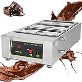 MIAOLEIE Máquina De Templado De Chocolate 1500W 30~80 ℃ Fuselador De Chocolate con 3 * 1.6L Puts 3 CILINDERS Auto Temp Comercial HOGAR
