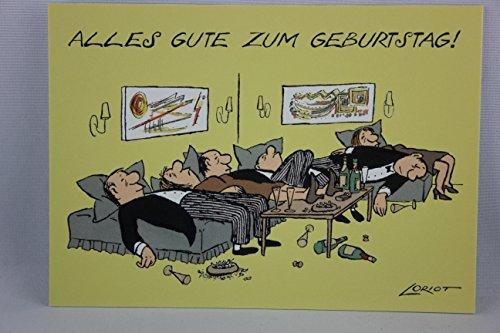 Postkarte A6 • 009 ''Geb / Gelage'' von Inkognito • Künstler: Loriot • Geburtstag
