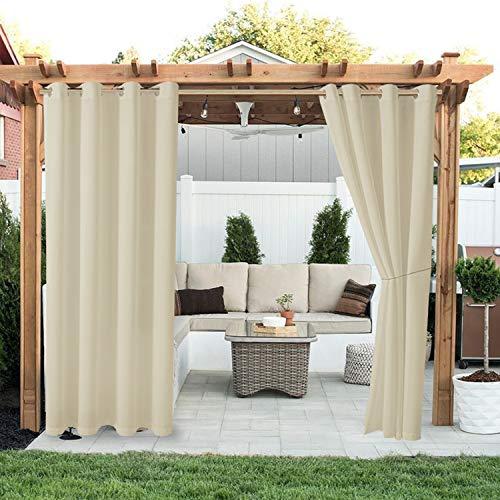 LORDTEX Outdoor-Vorhänge 52 x 120 inch cremefarben