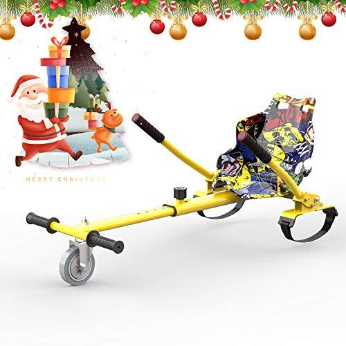 HITWAY Hoverkart Go-Kart, Accessoires pour Hoverboard Scooter Électrique pour Gyropode, Compatible avec Tous Les Hoverboards, Longueur réglable, Cadeau pour Enfants