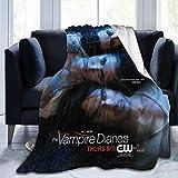 Vampire Diaries - Manta ultra suave de microfibra de forro polar, peso ligero, cálido y mullido