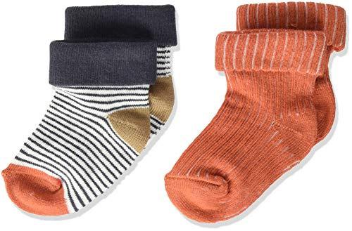 Noppies Baby-Jungen B Socks 2PCK Tenbury Babysocken, White Sand-P670, 6M-12M