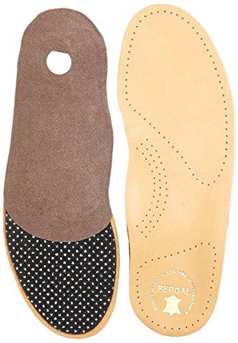 Bergal Ortho Comfort Einlegesohlen Fußbett mit echtem Leder Herren Gr. 42