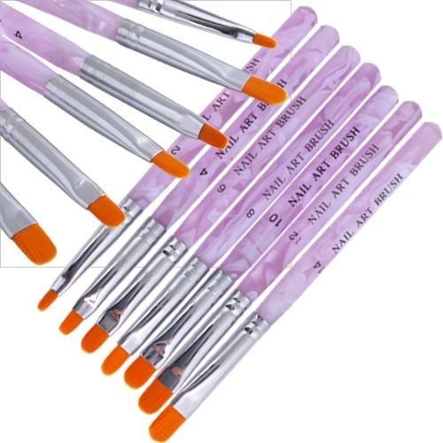 Nalmatoionme 7 partie Filles Woman Cosmetics Acrylique Gel UV à ongles Beauté Faux Conseils Builder Brush Pen