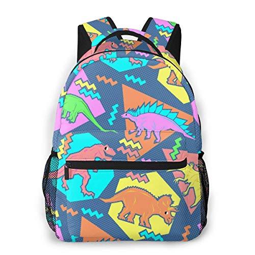 Schulrucksack, Alltag, Reisetasche für Herren und Damen, 90er Jahre, lustige Dinosaurier, leichter College-Rucksack Lustige Dinosaurier Einheitsgröße