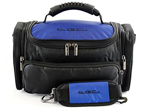 TGC ® Grote Camera Case voor JVC Everio Camcorder, GZ-HD7EK, GZ-HD6, GZ-HD3EK Plus Accessoires, Dreamy Blue & Black
