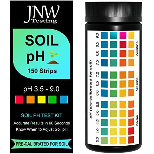 JNW Direct Soil pH Test Strips - 150 Strip MEGA Pack, Best...