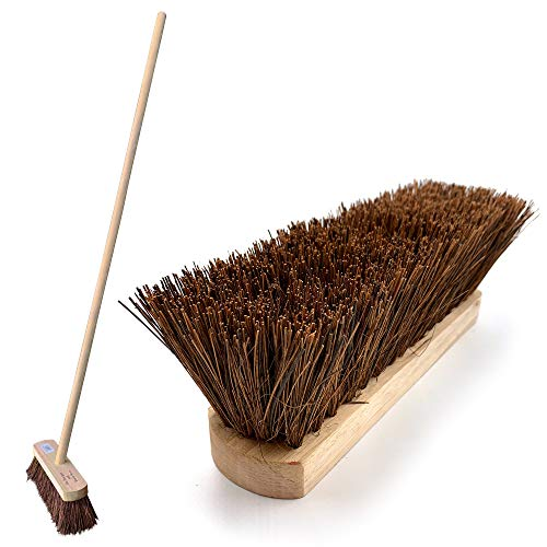 Outdoor Sweeping Brush with Handle 10' Stiff Wooden Bassine Yard Broom by The Dustpan and Brush...