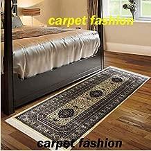 Carpet Fashion'' Classical Royal Persian Design Kashmiri Silk Blend Bedside Runner Silk Carpet 60 X 180 cm (2x6 Feet, Ivory Multi)