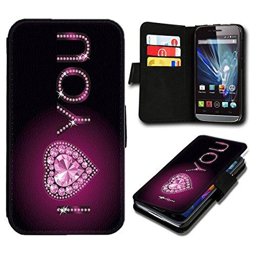 sw-mobile-shop Book Style Wiko Wax Premium PU-Leder Tasche Flip Brieftasche Handy Hülle mit Kartenfächer für Wiko Wax - Design Flip SB763