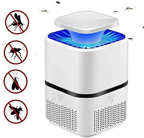Qiyan Zapper Eléctrico de insectos, Mosquitera, Lámpara de Matar Mosquitos, Trampa de Mosquitos, Portátil Alimentado por USB, Luz LED para Camping, Senderismo, Exterior e Interior (Blanco)