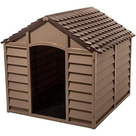 Starplast Dog House Kennel - Weather & Water Resistant - Easy Assembly - Perfect for Small to Large Sized Dogs
