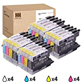 HiServicer 16PK Compatible Ink Cartridge Replacement for Brother LC-71 LC-75 LC71XL LC75XL Combo Pack for MFC-J430W J825DW J625DW J435W J6710W J835DW J5910DW (16PACK - BCMY - 4,4,4,4)