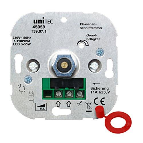 UNITEC Phasenanschnittdimmer für LED-Beleuchtung für die Schaltserien von UNITEC, Busch-Jäger sowie Jung und Gira